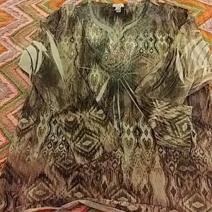 Chico's Tops - Long sleeve shirt size Large by CHiCoS